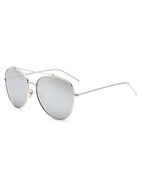 online Crossbar Pilot Mirrored Sunglasses - SILVER  Mobile