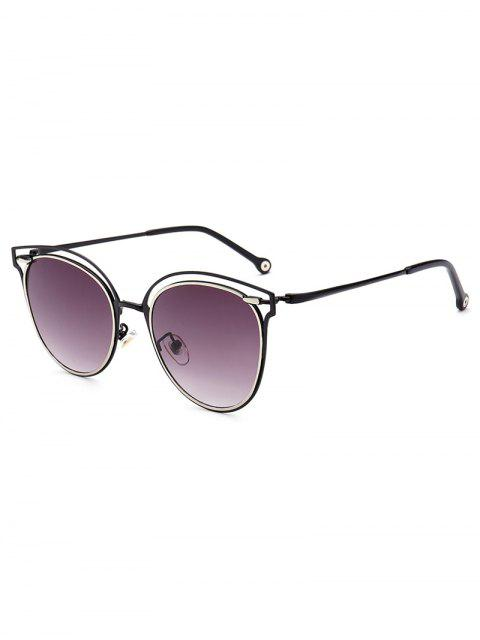 shops Double Rims Cat Eye Sunglasses - DEEP PURPLE  Mobile