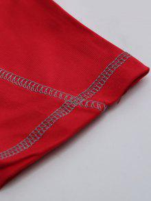 22d58a0055d6f9 28% OFF] 2019 Quick Dry Breathable Tight Stitching Gym Pants In RED ...
