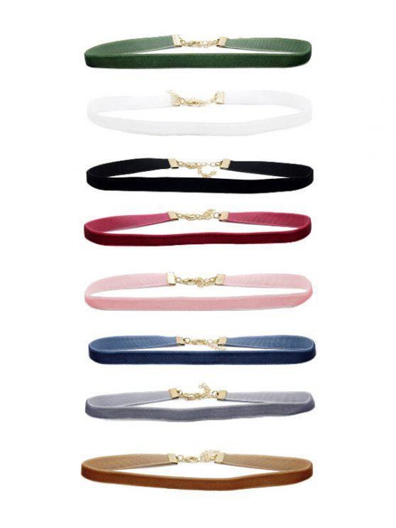 Adorn Velvet Choker Necklace Set