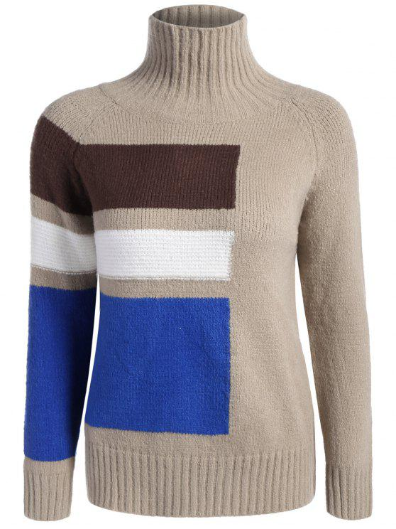 07624a30a21 61% OFF  2019 Funnel Neck Raglan Sleeve Sweater In CAMEL