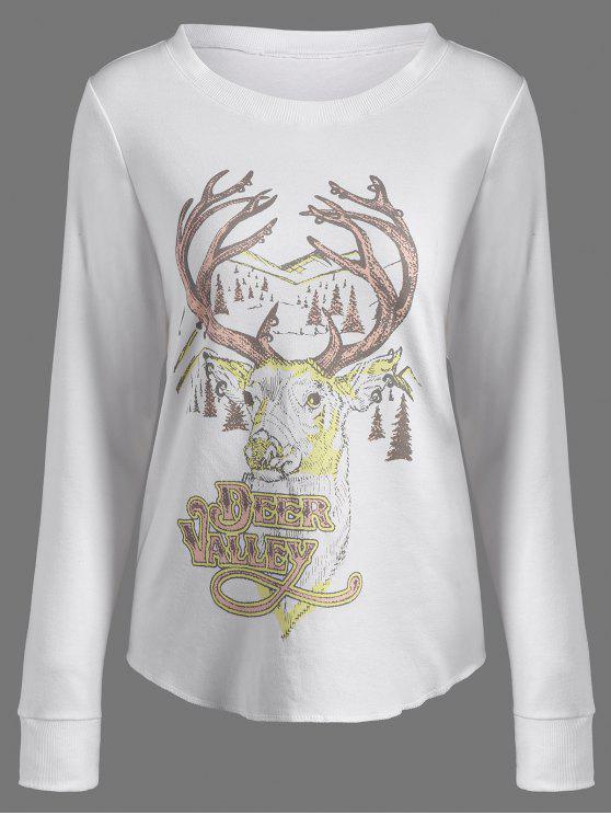 Veste sportive imprimée  renne - Blanc Cassé L