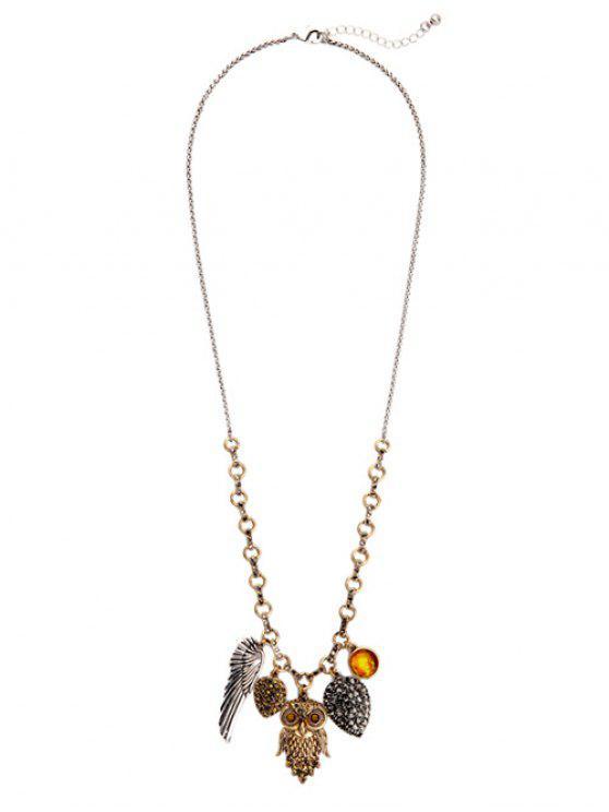 Eulen-Flügel-hängende Halskette - COLORMIX