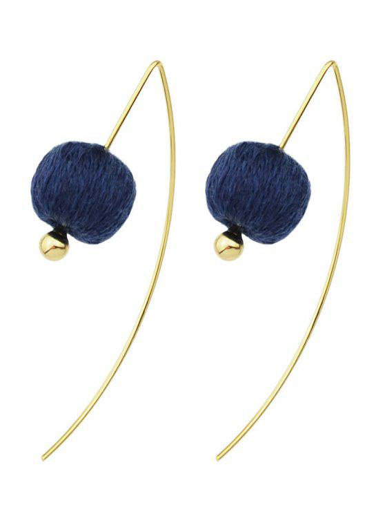 hot Lantern Drop Earrings - BLUE