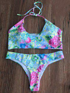 Tiny Floral Padded Bikini Set - Floral M