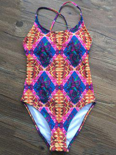 Printed Criss-Cross Swimwear - M