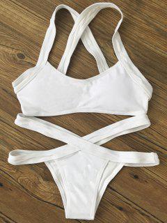 Bikini Ensemble Bande Croisé - Blanc S