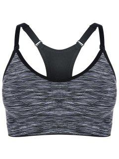 Heathered Pullover Sports Bra - Gray S