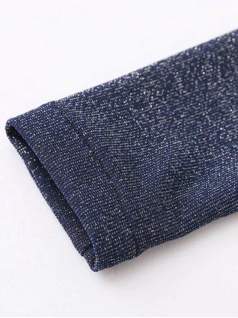 Une épaule Casual T-shirt Volants - Gris Foncé S Mobile