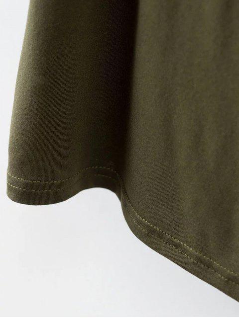 outfits Choker Drop Shoulder T-Shirt - CADETBLUE S Mobile