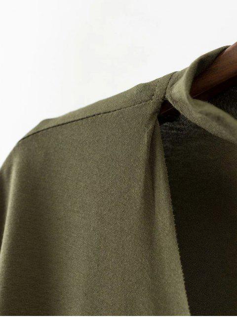 shop Choker Drop Shoulder T-Shirt - BLACK L Mobile