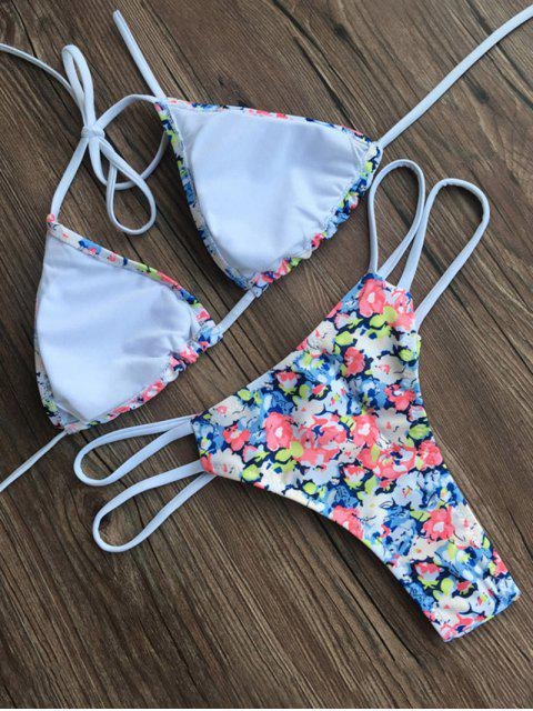 lady Halter Tiny Floral Swimsuit - FLORAL M Mobile
