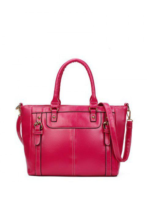 outfits Buckles Embellished PU Leather Handbag -   Mobile