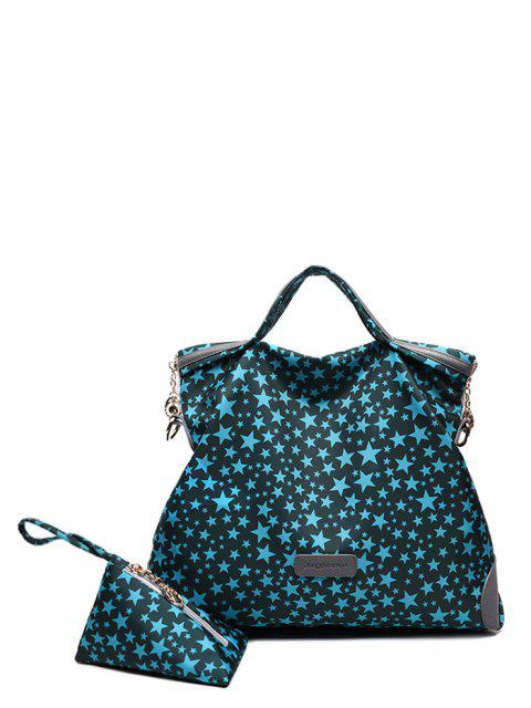 latest Printed Handbag With Coin Purse - BLUE  Mobile