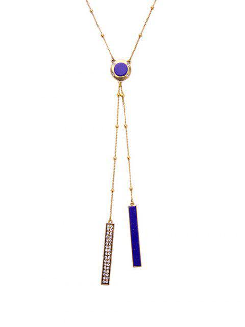 women's Rhinestone Bar Pendant Necklace - GOLDEN  Mobile