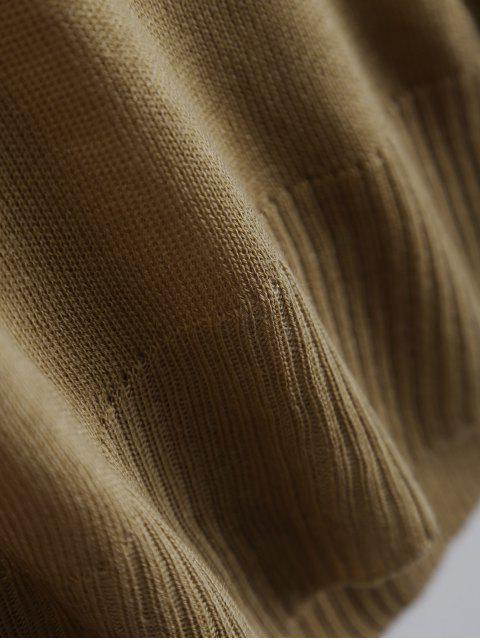 women's Batwing Sleeve Drop Shoulder Knitwear - BROWN S Mobile