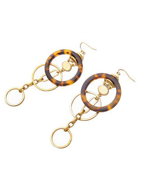 new Circle Faux Gem Earrings - GOLDEN  Mobile