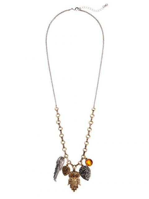 ladies Owl Wing Pendant Necklace -   Mobile