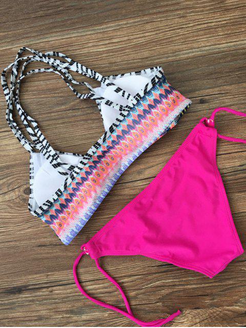 hot Printed Criss-Cross String Bikini - TUTTI FRUTTI M Mobile