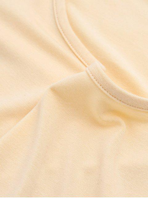 hot Cold Shoulder Crop Tee - GRAY M Mobile