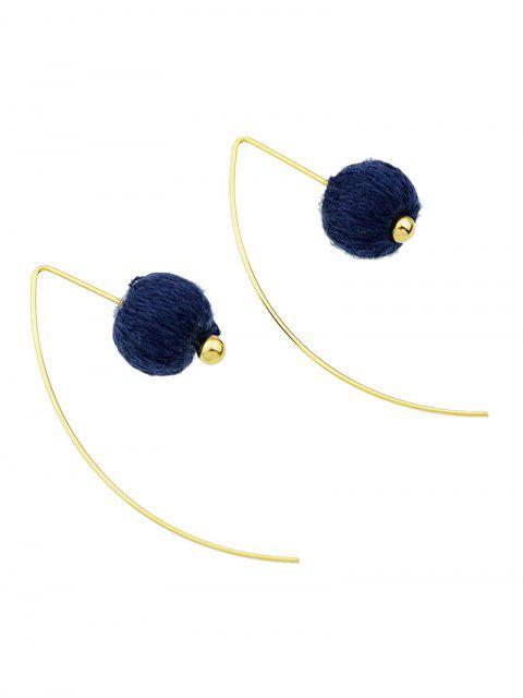 hot Lantern Drop Earrings - BLUE  Mobile