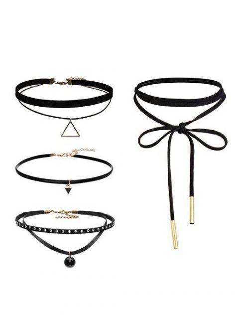 best Geometric Vintage Choker Necklace Set -   Mobile