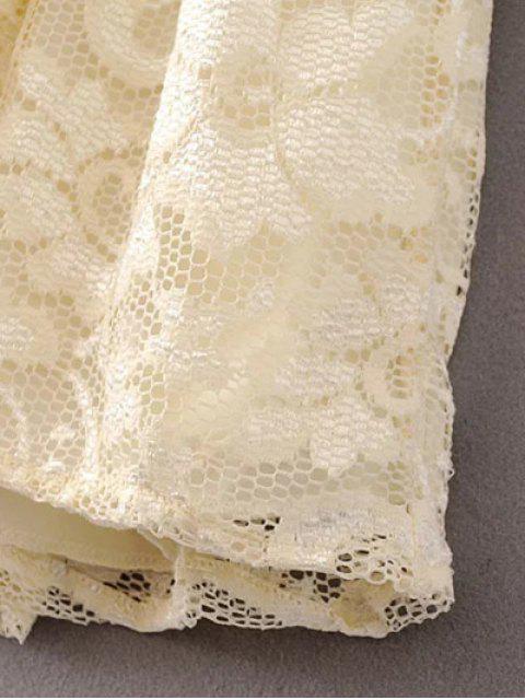 Dentelle V Neck Dress - Palomino L Mobile