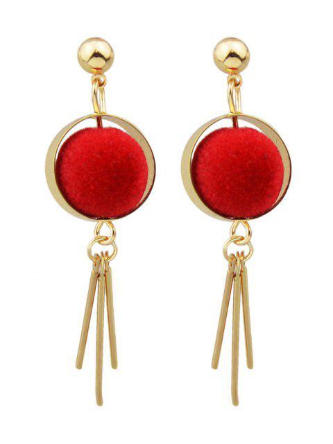 shops Ball Circle Bar Earrings -   Mobile