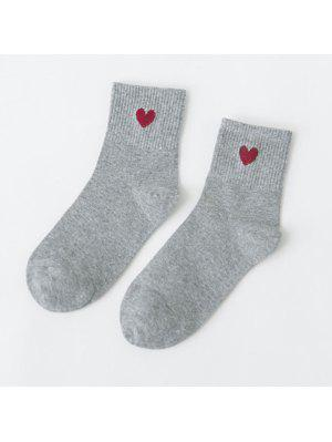 Small Heart Pattern Knitted Ankle Socks