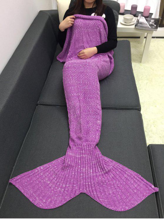 Mantenha a cobertura de confecção de malhas do estilo da cauda da sereia do crochet morno - Rosa