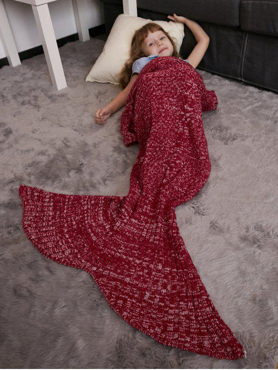 Warmhalten Crochet Knitting Mermaid Schwanz Stil Blanket - Rot