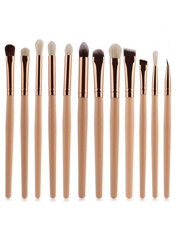 d469951662d 27% OFF  2019 Goat Hair Eye Makeup Brushes Set In COMPLEXION