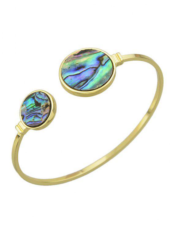 Pulsera para el brazo artificial de la gema del círculo - Dorado