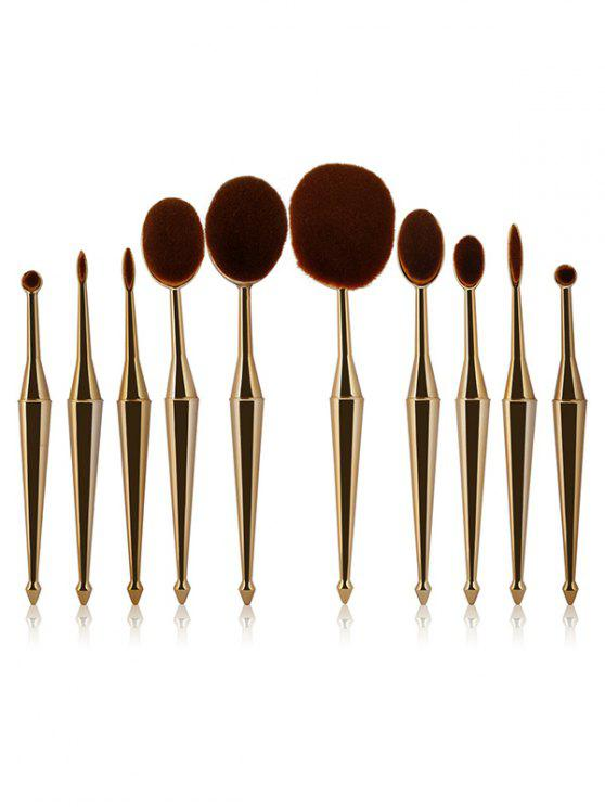 buy Mermaid Shape Makeup Brushes Set - GOLDEN