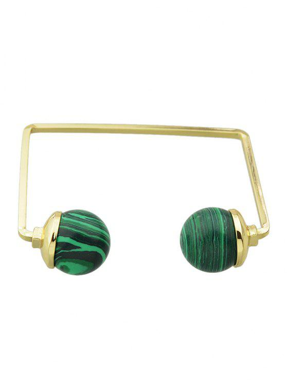 outfit Artificial Gem Ball Cuff Bracelet - GREEN