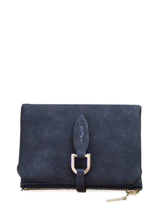 outfit PU Leather Bi Fold Small Wallet - BLACK