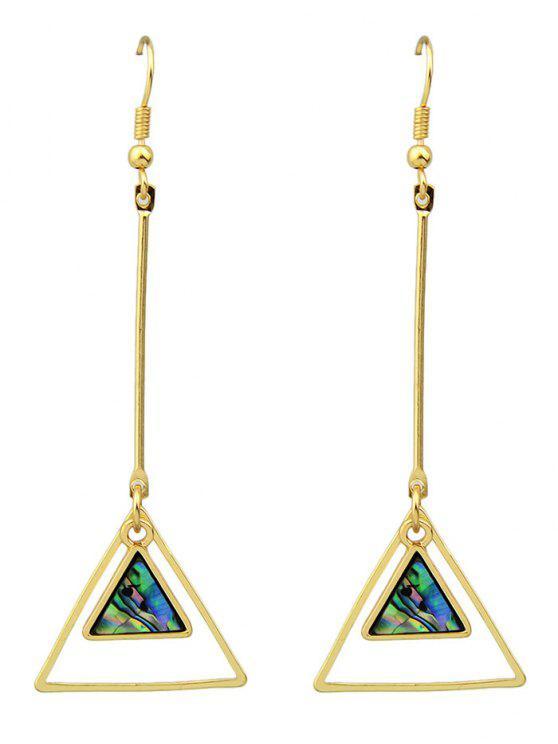 Faux Gem Triangle Boucles d'oreilles Vintage - Or