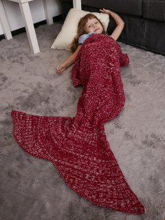 Keep Warm Crochet Knitting Mermaid Tail Style Blanket For Kids - Red