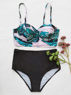 Bikini Cami Avec Impression Tripicale - Noir L