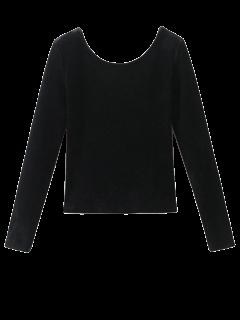 Backless Velvet Top - Noir S
