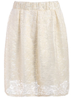 Floral Lace Skirt - Palomino S