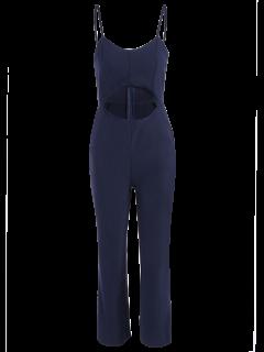 Cami Cut Out Cropped Jumpsuit - Cadetblue L