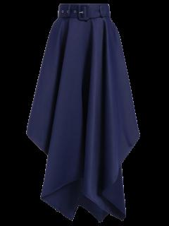 Hanky Hem Maxi Skirt - Deep Blue 2xl