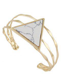 Faux Gem Triangle Cuff Bracelet Vintage - Blanc