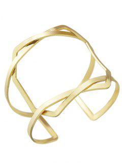 Brazalete De La Vendimia Geométrica - Dorado
