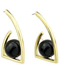Geometric Ball Vintage Earrings - Golden