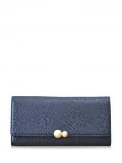 Textured Tri Fold Clutch Wallet - Black