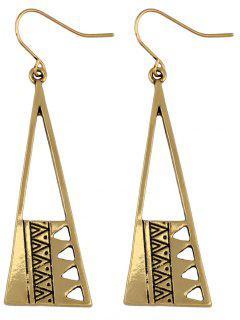 Vintage Triangle Drop Earrings - Golden