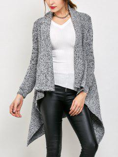 Cardigan Drapé Long  - Gris