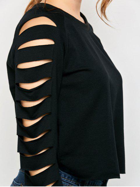 T-shirt manches déchirés - Noir XL Mobile